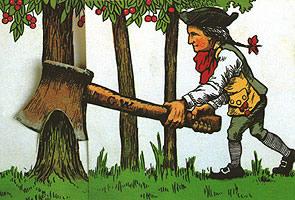 George Washington Chopping Cherry Tree