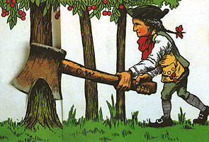 George Washington Chopping Cherry Tree