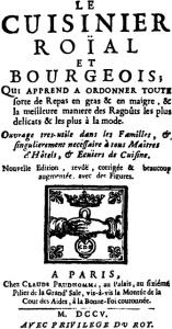Le Cuisinier Roial et Bourgeois