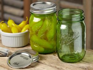 Ball Green Glass Canning Jars