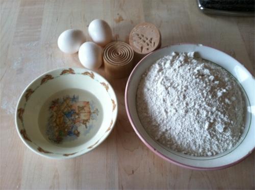 Corzetti pasta ingredients
