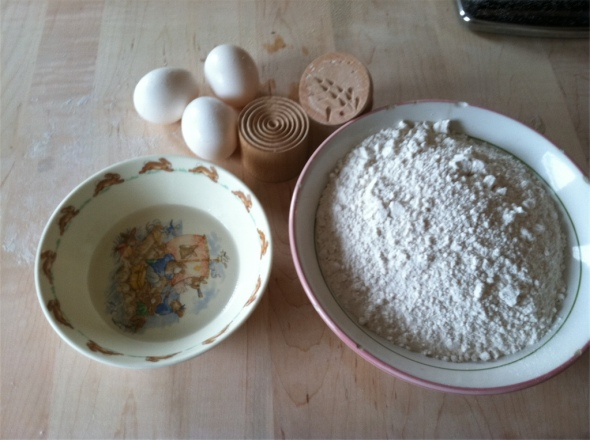 Corzetti pasta ingredients