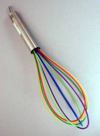 "10"" Silicone Rainbow Wire Whisk"