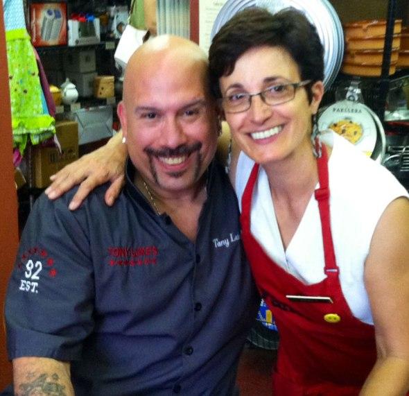 Tony Luke Jr and Mariella