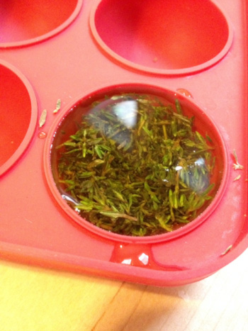 Herbs in Mold with Oil