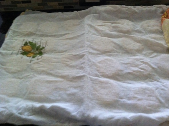 Tigelle dough under a towel for rising