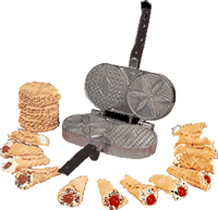 Pizzelle with Palmer Pizzelle Iron