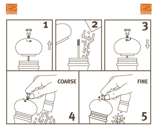 Peugeot Salt Mills Instructions