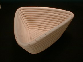 Triangular Cane Brotform Basket