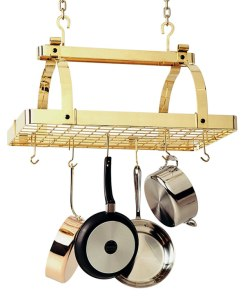 Enclume pr1nb Brass Ceiling Pot Rack