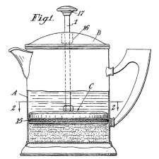 French Press by Inventor Attilio Calimani GB Patent 395548A