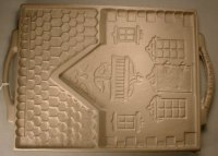 120686 John Wright Gingerbread Chateau Cast Iron Mold