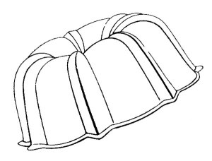 Bundt Pan Line Art