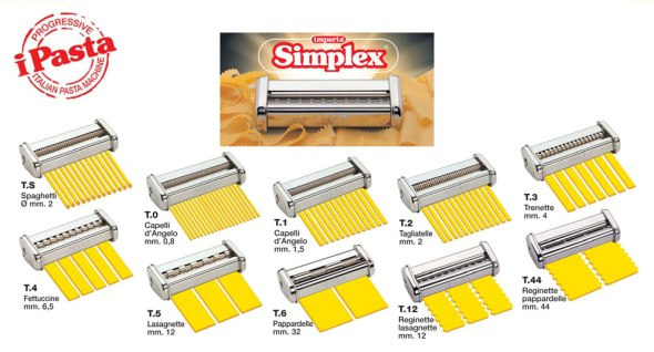 Imperia Simplex Pasta Cutters Attachments