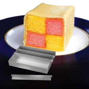 11983 Battenberg Cake Pan with Cake