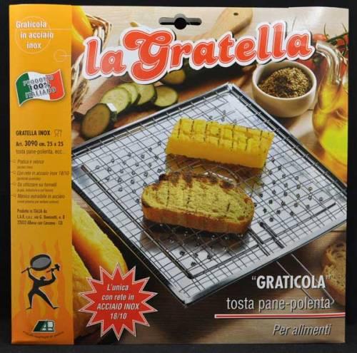 #612681 - Brustolina - La Gratella Graticola Tostapane Stainless Steel Stovetop Toaster