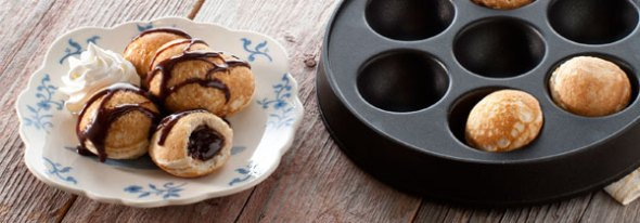 Nordic Ware Ebelskiver Pan with Chocolate Beauties