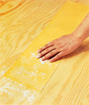Flour the dough lightly