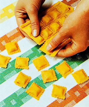 Separate the ravioli