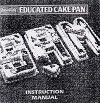 burvelle educated cake pan instruction manual -fig00