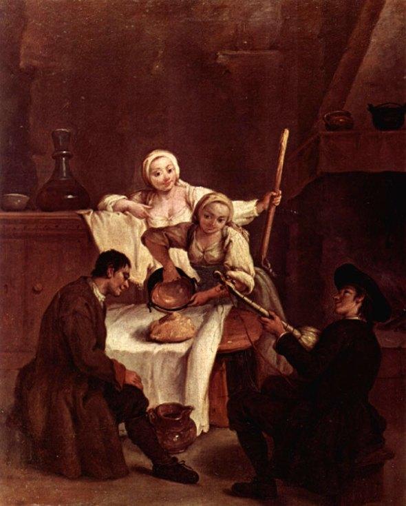 Polenta by Pietro Longhi 1700's