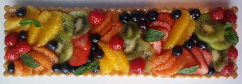 Pate Sablee with Frangipane and Mixed Fruit